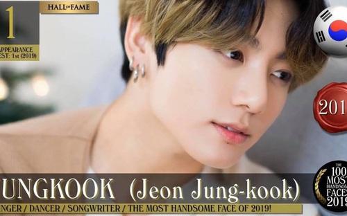 Jungkook BTS dẫn đầu BXH Top 100 Gương mặt nam đẹp nhất thế giới 2019