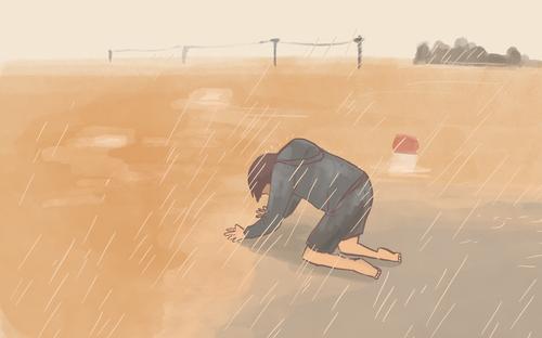 Bộ tranh về lũ lụt miền Trung gây xúc động mạnh