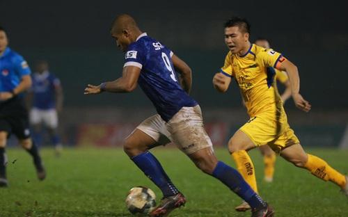Bàn thắng và highlight SLNA 1-1 Nam Định, vòng 5 nhóm B V League 2020
