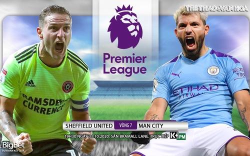 Soi kèo nhà cái Sheffield Utd vs Man City. Vòng 7 Giải ngoại hạng Anh. Trực tiếp K+ PM