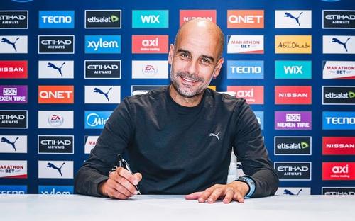 HLV Pep Guardiola gia hạn hợp đồng với Man City đến tháng 6/2023