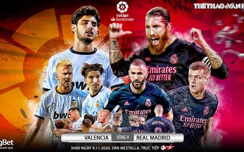 Soi kèo nhà cái Valencia vs Real Madrid. Vòng 9 La Liga. Trực tiếp Bóng đá TV