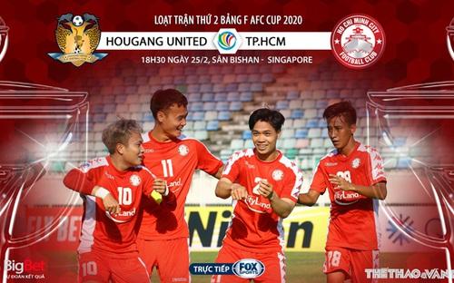 Soi kèo AFC Cup: Hougang United vs TP.HCM (18h00 ngày 25/2). Trực tiếp FOX Sports