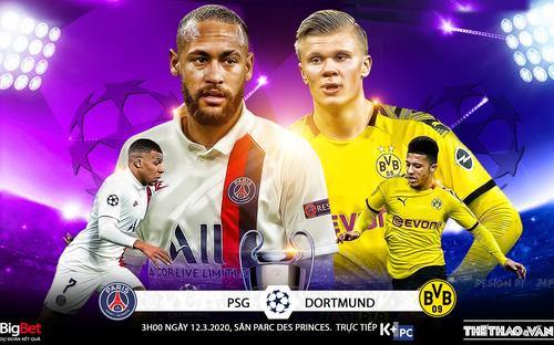 PSG vs Dortmund (3h00 ngày 12/3). Lượt về vòng 16 Cúp C1. Trực tiếp K+PC