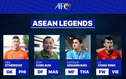 Lê Công Vinh tốp 5 huyền thoại bóng đá Đông Nam Á