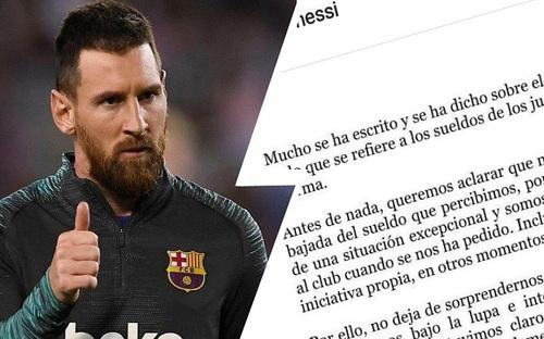 Messi chấp nhận giảm 70% lương ở Barca, trở thành cầu thủ mất nhiều tiền nhất vì COVID-19