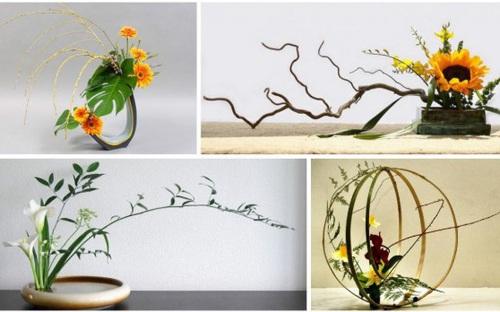 Ngắm những tác phẩm cắm hoa Ikebana do những bà nội trợ Việt thực hiện