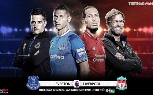 Soi kèo bóng đá Everton - Liverpool. Trực tiếp bóng đá Vòng 30 Ngoại hạng Anh. K+. K+PM