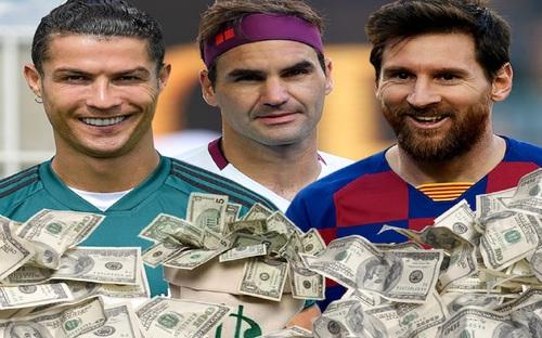 Đánh bại Ronaldo và Messi, huyền thoại Federer là VĐV giàu nhất thế giới