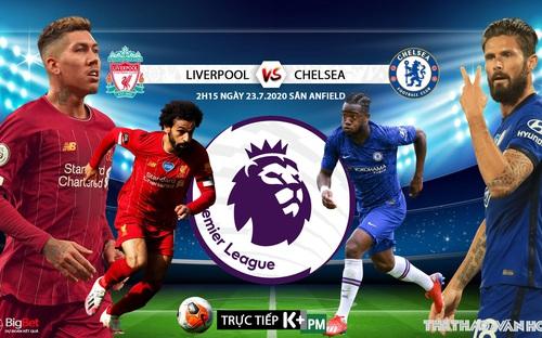 Soi kèo bóng đá. Liverpool đấu với Chelsea. Vòng 37 Ngoại hạng Anh. Trực tiếp K+PM