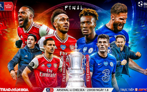 Soi kèo bóng đá Arsenal vs Chelsea.Chung kết cúp FA. Trực tiếp SCTV thể thao, FPT