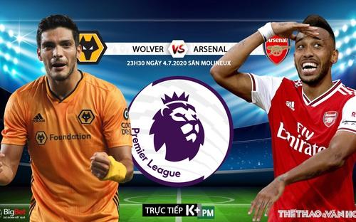 Soi kèo bóng đá Wolves vs Arsenal. Trực tiếp bóng đá Ngoại hạng Anh. K+. K+PM