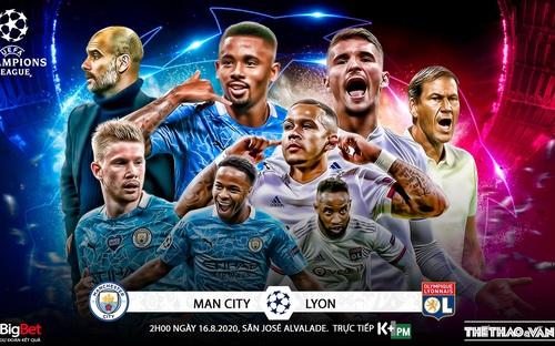 Soi kèo nhà cái Manchester City - Lyon. Tứ kết Cúp C1 châu Âu. Trực tiếp K+PM