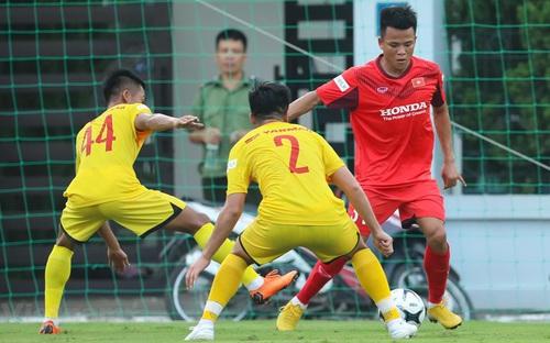 U22 Việt Nam 'thử sức' với đội bóng ở V-League