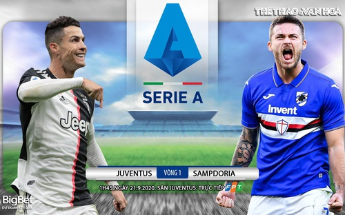 Bóng đá Ý: Soi kèo Juventus vs Sampdoria vòng 1 Serie A