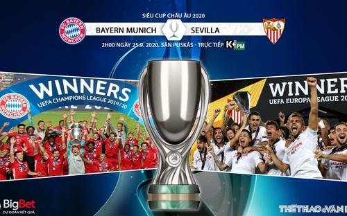 Soi kèo nhà cái Bayern Munich vs Sevilla. Siêu Cúp châu Âu. Trực tiếp K+PM