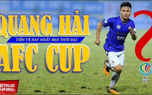 Quang Hải lọt vào danh sách đề cử danh hiệu Tiền vệ AFC Cup hay nhất mọi thời đại