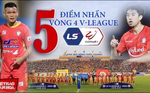 5 điểm nhấn vòng 4 V-League 2021