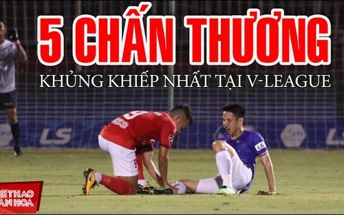 5 pha chấn thương kinh hoàng ở V-League