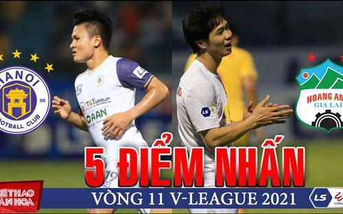 Điểm nhấn vòng 11 V-League: HAGL sắp vô địch giai đoạn 1, Hà Nội đá trụ hạng
